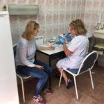 В отделении амбулаторной помощи взрослому населению Городской поликлиники N2 организован пункт забора крови из пальца